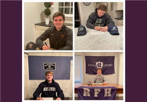 RFH Football Players Celebrate Early Commitments