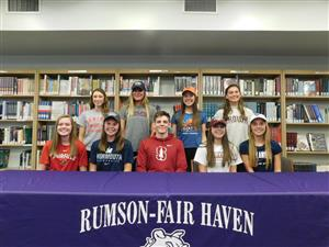 nine student athletes